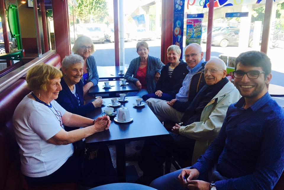 L'équipe MONALISA au café de la gare.