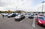 Le parking de Leclerc , juste assez grand
